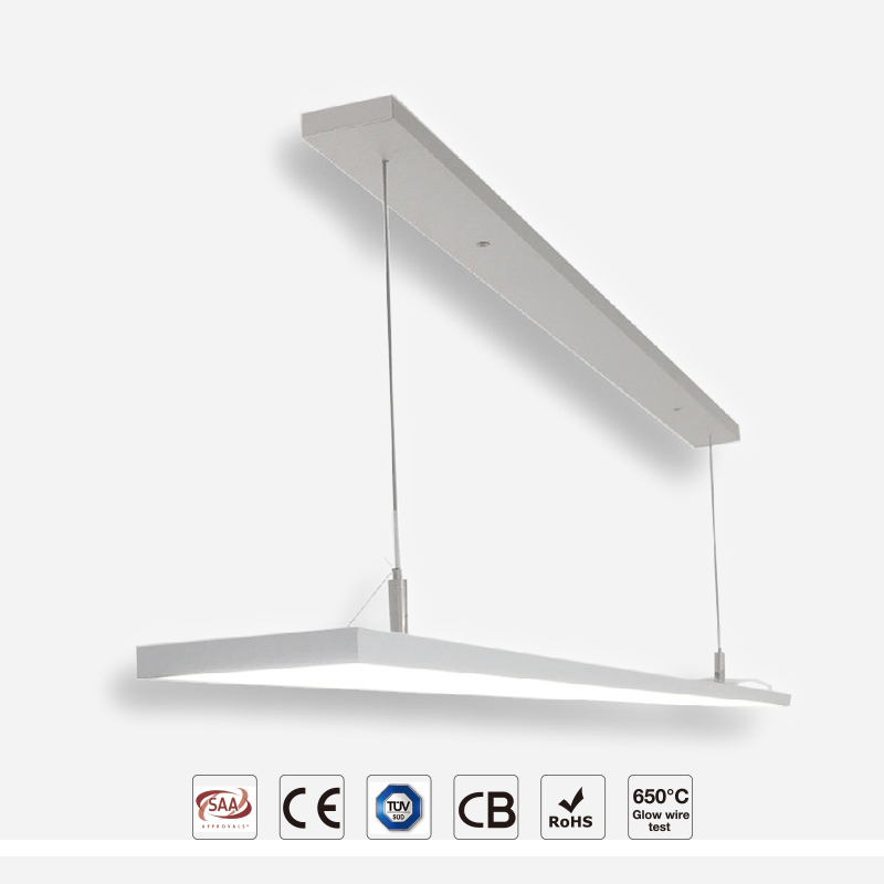 Suspending Frameless Pendant panel with Simple Design