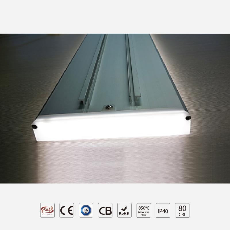 High Efficiency 3D Frameless Linear Panel Light
