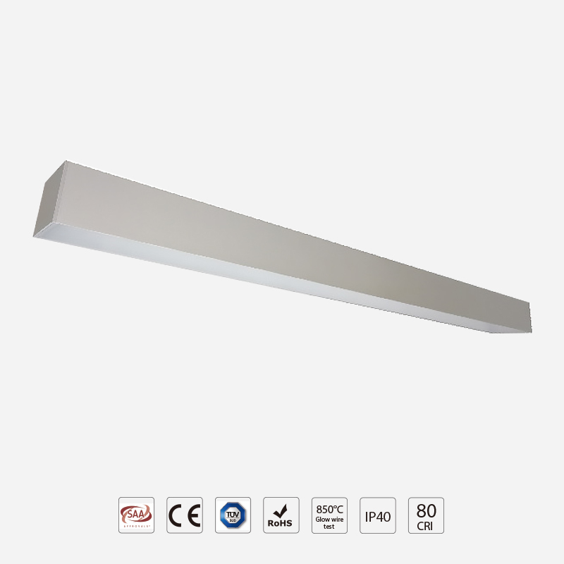 Classic LED Linear Light LO75 with Opal Diffuser Design