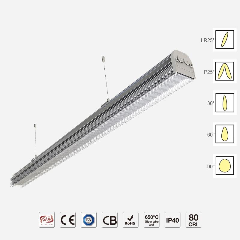 Waterproof IP54 Trunk Linear Light Used in Factory DWTP124R